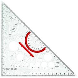Zeichendreieck mit Schablone für Fachbereich Metall DIN 406