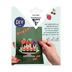 Set POP-UP, Doppelkarte 135 x 135 mm + Umschlag 140 x 140 mm - Glückwunsch zum Geburtstag