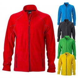 Leichte Outdoor Fleecejacke | James & Nicholson