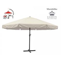 Mandalika Garden MERCATO XXL Sonnenschirm 500cm Gastronomie geeignet UV60+ natur