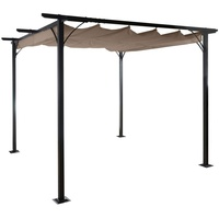 MCW Pergola MCW-C42 3,5 x 3,5 m inkl. Schiebedach taupe