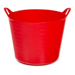 ONDIS24 Wäschekorb Tragekorb Flexi Tub 40L, Spielzeug Eimer Kinderzimmer, Wäschekorb Flexibler Kunststoff, Garten Kübel, rot rot