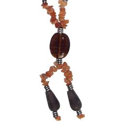 Guru-Shop Perlenkette Modeschmuck, Boho Perlenkette - Modell 14
