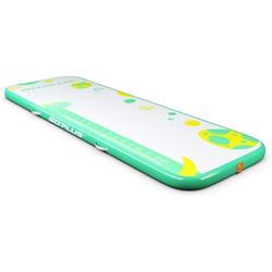COSTWAY Gymnastikmatte 300 x 100 cm Air Track, Yogamatte grün 100 cm x 300 cm x 10 cm