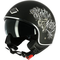 Astone Dirty Thrills Jet helm Zwart S