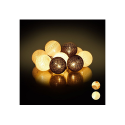 relaxdays LED-Lichterkette LED Lichterkette mit 10 Kugeln