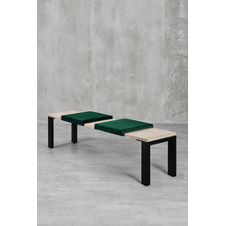 carla&marge Bankauflage Feels, Klemmkissen(2er Set),für eine Sitzbanktiefe von 37cm grün