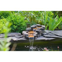 Ubbink Wasserfall Cazoria, (Set) beige Teichbrunnen Teiche Garten Balkon