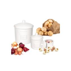BigDean Gemüsetopf 3er Set Toskana aus Kartoffeltopf, Knoblauchtopf & Zwiebeltopf, (3-tlg)