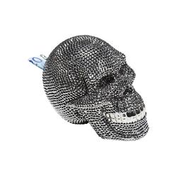 KARE Spardose Spardose Skull Crystal Silber