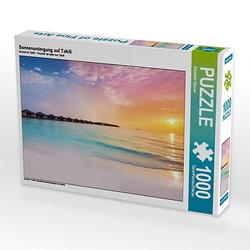 Sonnenuntergang auf Tahiti Lege-Größe 64 x 48 cm Foto-Puzzle Bild von Elisabeth Stanzer Puzzle