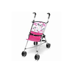 hauck TOYS FOR KIDS Kombi-Puppenwagen Uno Mini - Pink Dot, (1-tlg), Leichter Puppenwagen mit Doppelrädern