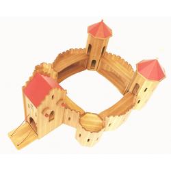 ERST-HOLZ Spielwelt 931-360, Ritterburg aus Holz massiv Burg Fa. Drewart nachhaltiges Holzspielzeug 931-360