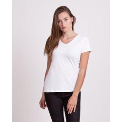 Key Largo T-Shirt WT TOAST mit stylischen Glitzerstreifen weiß M