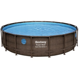 BESTWAY Power Steel Swim Vista Series Frame Pool Set 549 x 122 cm inkl. Filterpumpe