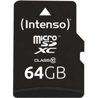 Intenso microSDXC 64GB Class 10 + SD-Adapter