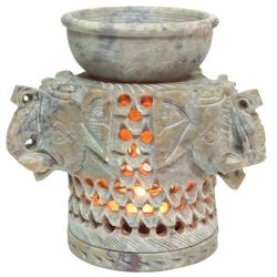 Guru-Shop Duftlampe Indische Duftlampe, ätherisches Öl Diffusor,.. 10 cm x 10.5 cm x 10 cm