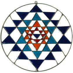 Guru-Shop Dekoobjekt Sonnenfänger, Suncatcher - Yantra blau