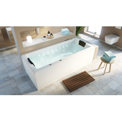 Emotion Whirlpool-Badewanne Deluxe Whirlpool Set OMEGA ULTRA 190 mit LED-Beleuchtung 190x90x62 cm