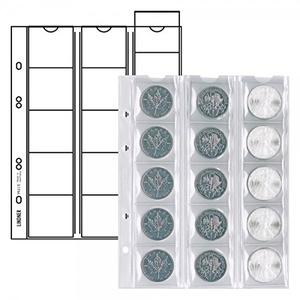 Lindner Münzhülle Münzenhüllen Münzblätter MU12,MU15,MU24,MU35,MU40,MU54 (Münzhüllen MU 15 5Stück)
