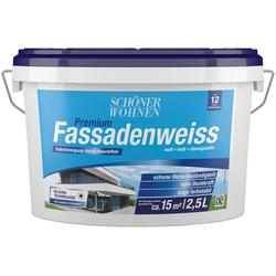 SCHÖNER WOHNEN-Kollektion Fassadenfarbe Premium-Fassadenweiss, 2,5 l