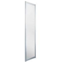 0703 75 x 185 cm Alu silber matt/Klarglas hell