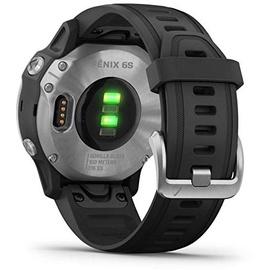 Garmin fenix 6S silber mit schwarzem Armband