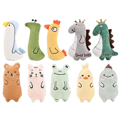 kueatily Zerrspielzeug Katzenspielzeug mit Katzenminze, 10er Pack Katzenspielzeug mit Katzenminze, Katzenspielzeug Set aus Katzenkissen mit Katzenminze, Interaktives Kauspielzeug Katzenminze, Katzenminze Spielzeug für Katzen