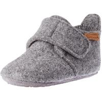 Bisgaard Baby Wool Hausschuh grau 22