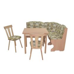 moebel-direkt-online Eckbankgruppe Vito, (Spar-Set, 4-tlg., 4-teilig (Stauraum-Eckbank, Auszugs-Esstisch, 2Massivholzstühle), 1 Eckbank, 1 Esstisch mit Auszugsfunktion, 2 Stühle grün