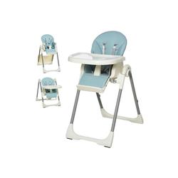 HOMCOM Hochstuhl Hochstuhl für Babys blau