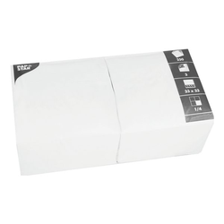 250er-Pack Servietten weiß, Papstar, 33x33 cm