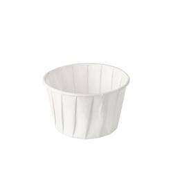 Papstar Pure Dressingbecher Papier, rund, Portionsbecher aus Papier, 1 Packung = 100 Stück, 90 ml