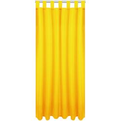Vorhang, Bestlivings, Schlaufen (1 Stück), Blickdichte Gardine Fertiggardine mit Schlaufen, Schlaufenschal in versch. Größen und Farben verfügbar gelb 140 cm x 175 cm