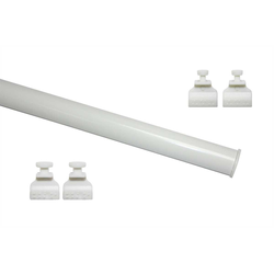 Schiebegardine Profil zum Klipsen weiß 60 cm, GARDINIA