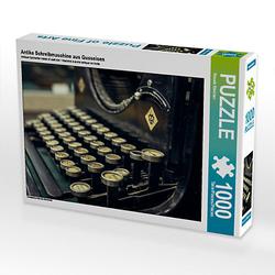 Antike Schreibmaschine aus Gusseisen Lege-Größe 64 x 48 cm Foto-Puzzle Bild von Renate Bleicher Puzzle