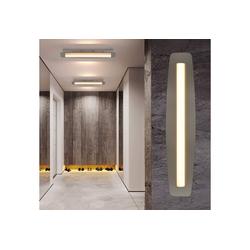ZMH LED Deckenleuchte Deckenlampe Warmweiß 3000K Wandleuchte aus Acryl Werstattlampe Küche Nickel Innen Kronleuchter