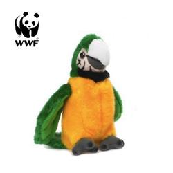 WWF Plüschfigur Plüschtier Grüngelber Ara Papagei (mit Sound, 14cm)