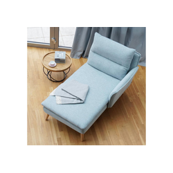 PLACE TO BE. Recamiere, Recamiere Ottomane Chaiselongue Sitzbank Polsterbank Tagesbett Daybed mit Armlehne rechts blau