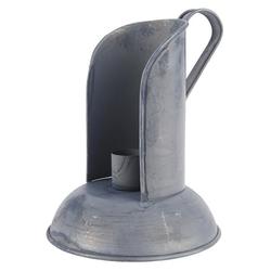 Ib Laursen Kerzenhalter IB Laursen Kerzenhalter mit Windschutz Grau