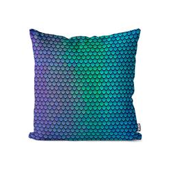 Kissenbezug, VOID (1 Stück), Fischschuppen Kissenbezug Fische Schlangen Schuppen Grafik Natur Design 50 cm x 50 cm