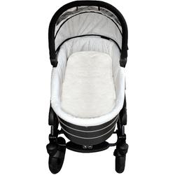Babylammfell Lammfell-Einlage, Heitmann Felle, ideal geeignet als Einlage für Soft-Tragtasche, Kinderwagen, Buggy, Kinderbett etc., besonders weich, waschbar weiß