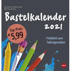 Bastelkalender 2021 mittel anthrazit
