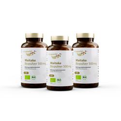 3er Pack Maitake Biopulver 500 mg (360 Kps)