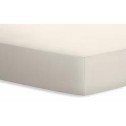 Schlafgut Spannbetttuch Basic in leinen, 140 x 200 x 25 cm