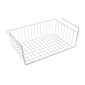 Metaltex Babatex Schrankkorb, plastifiziert, Hängekorb mit engem, feinmaschigem Gitter zum Aufhängen an Regalen oder Ablagen, Maße: 40 x 26 x 14 cm