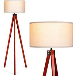 COSTWAY Stehlampe Stehleuchte Stehlampe weiß 46 cm x 56.5 cm x 152.5 cm