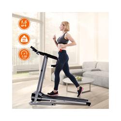 Tapis de course de fitness avec ecran LCD   1-10 KM / H   12 programmes   Support pour tablette et