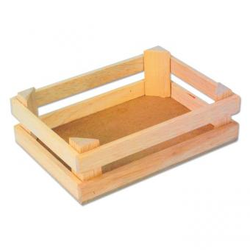 3er-Set Obstkisten aus Holz.