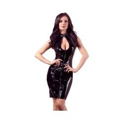 Kleid aus Lack, mit Halsband und 2-Wege-Reißverschluss